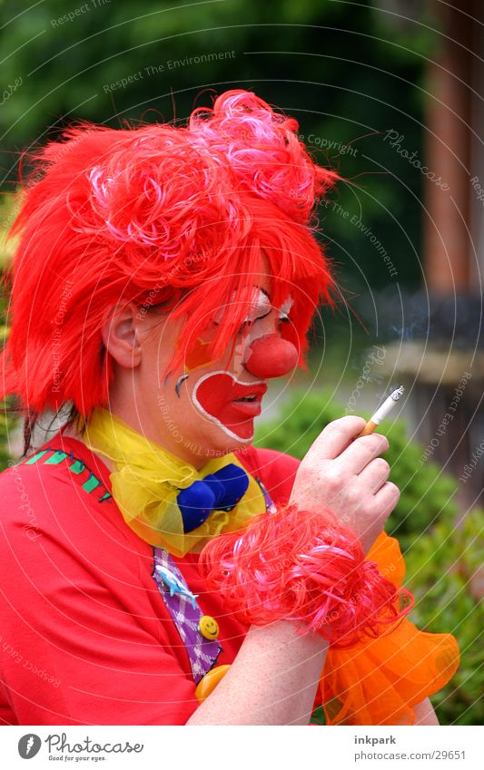 Smoking Clowns Cigarette Smoky Wig Think Joy Nose Carnival