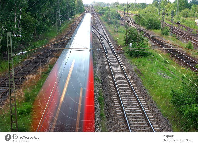 Transport Railroad Speed Bridge Railroad tracks Train station Express train