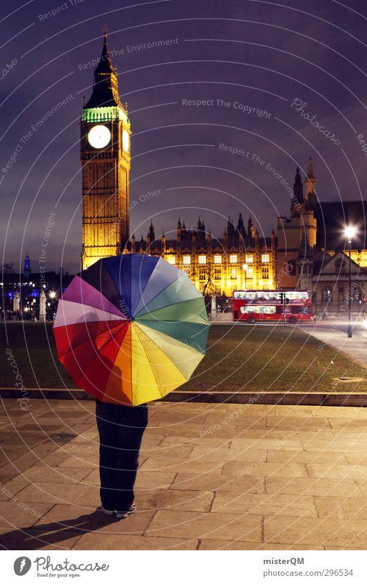 Colour Lovers LND. Lifestyle Art Esthetic Design Fashioned Creativity Idea Umbrellas & Shades Prismatic colors London London marathon Big Ben Bus Kitsch