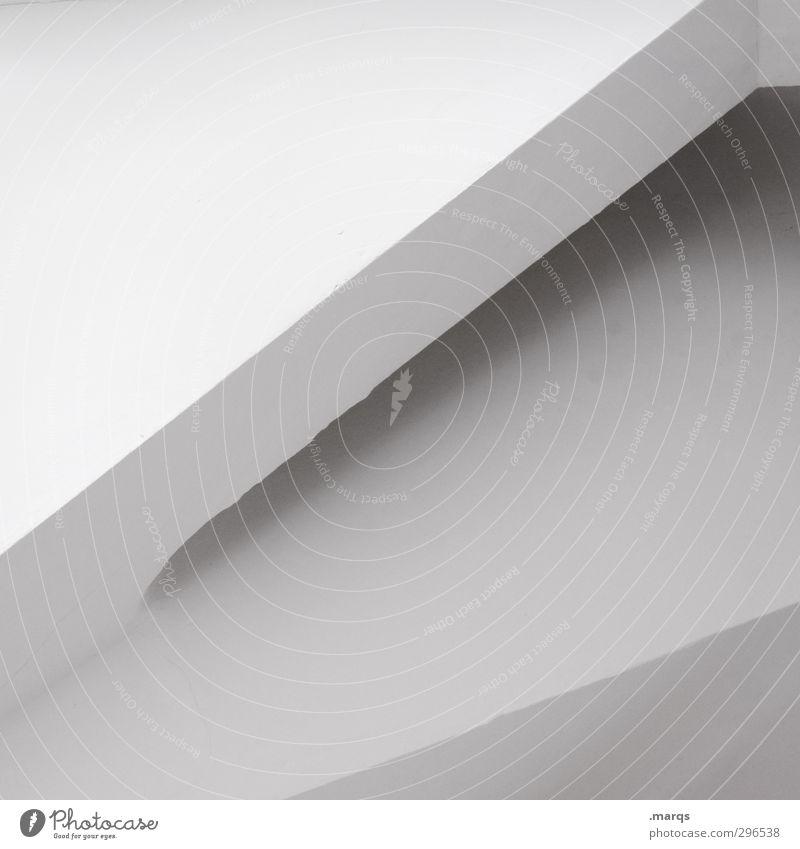 corner Elegant Style Design Interior design Concrete Exceptional Sharp-edged Simple Modern Beautiful White Perspective Illustration Background picture