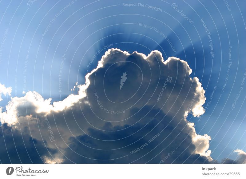 sun theft Clouds Cumulus Sun Shadow Lamp Blue