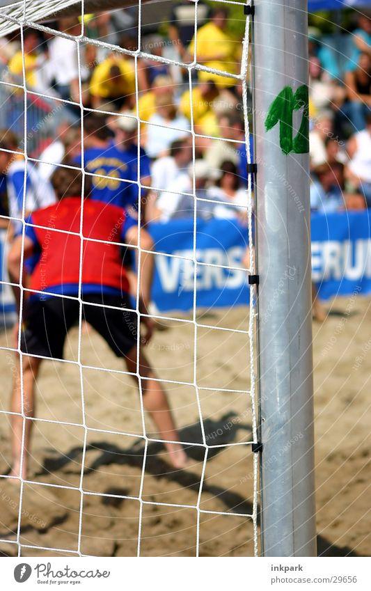 Beach Sports Sand Soccer Gate Audience Pole Soccer player Goalkeeper