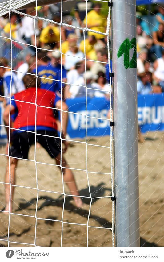Beach Sports Sand Soccer Gate Audience Pole Soccer player Goalkeeper
