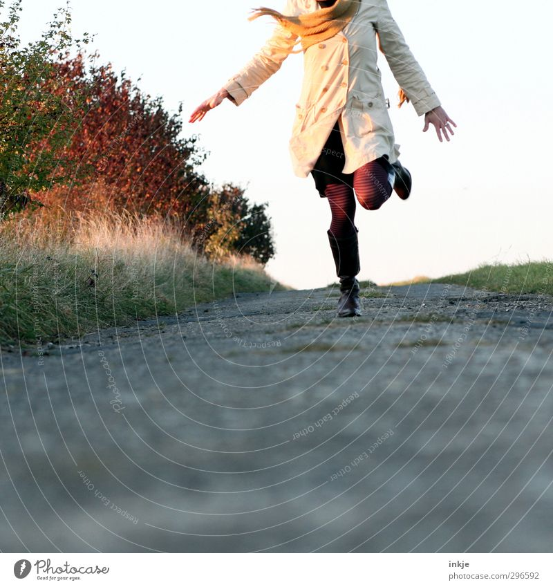 Human being Woman Nature Vacation & Travel Joy Landscape Adults Environment Life Autumn Emotions Spring Movement Freedom Style Healthy