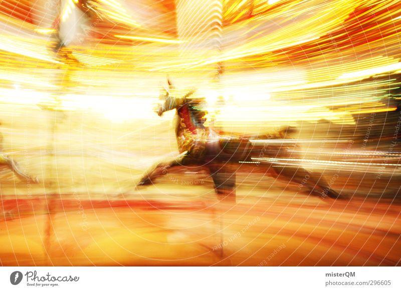 manège. Lifestyle Art Esthetic Carousel Hobbyhorse Fairs & Carnivals Joy Horse Light Sea of light Speed Speed rush Rotate Movement Blur Child Childhood memory