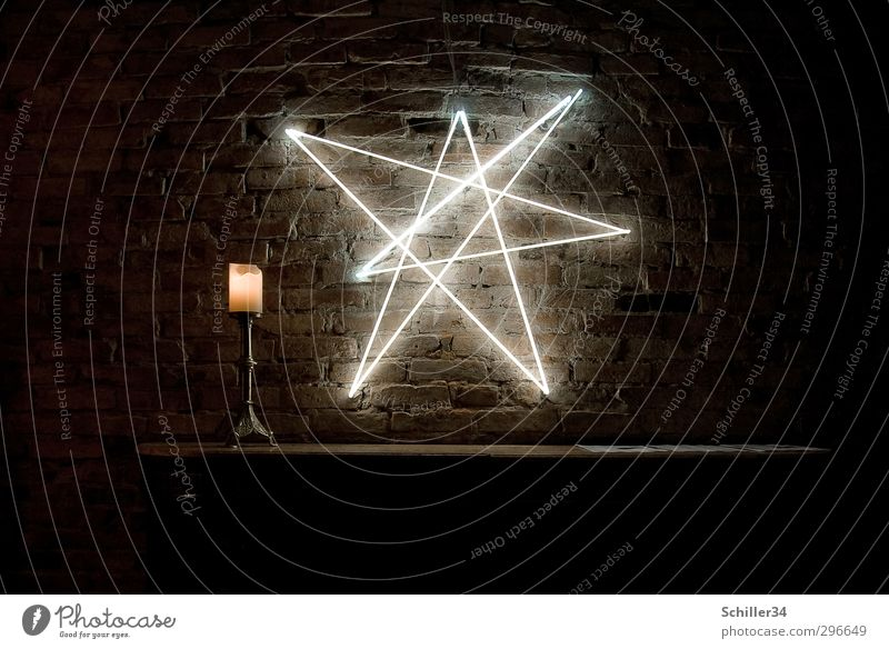 Calm Yellow Wall (building) Emotions Wall (barrier) Berlin Think Stone Lamp Art Illuminate Decoration Energy Table Fire Star (Symbol)