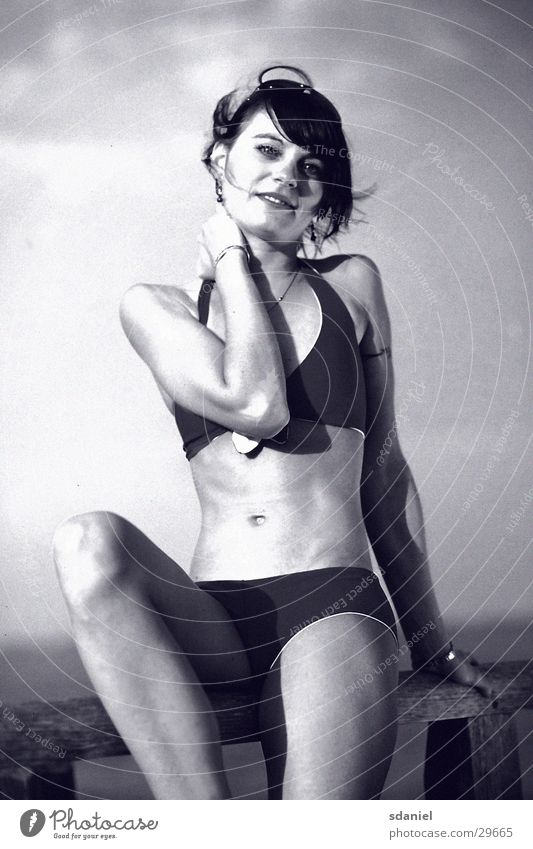 Woman Beach Lifestyle Bikini Nostalgia