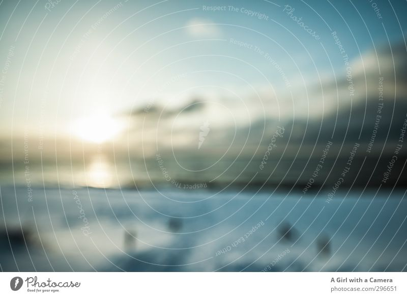Sometimes I'm blurred Environment Nature Landscape Coast Baltic Sea Ocean Idyll Dreamily Blur Subdued colour Exterior shot Experimental Abstract Deserted