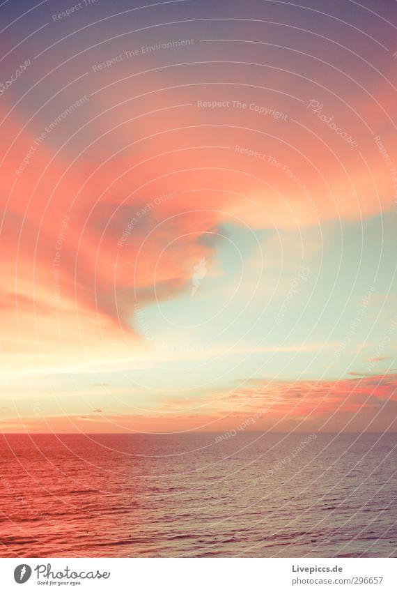 Sky Nature Water Summer Sun Ocean Landscape Clouds Calm Beach Far-off places Freedom Coast Bright Horizon Orange
