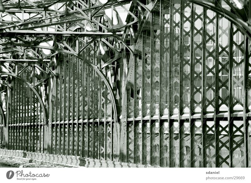 Architecture Munich Steel Bridge Fence Scaffold Bavaria Railroad bridge