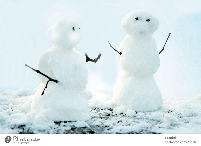 snow couple Snowman Snowscape Winter Snow ball