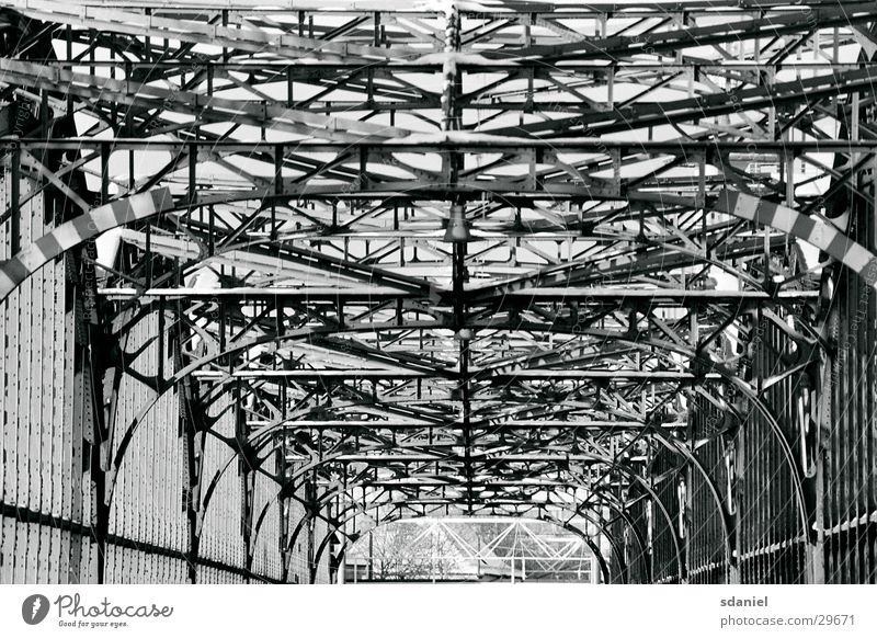 Architecture Munich Steel Fence Scaffold Bavaria Bridge Railroad bridge