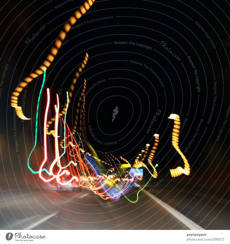 Street Movement Car Line Transport Illuminate Bridge Stripe Vehicle Tunnel Motoring Passenger traffic Road traffic Means of transport Rush hour