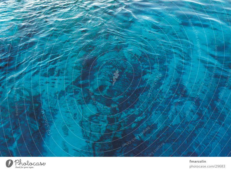ocean Ocean Bottom of the sea Waves Bird's-eye view Water Blue