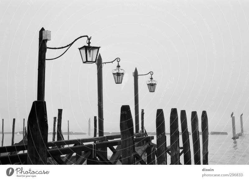 Vacation & Travel City Ocean Winter Cold Lamp Weather Fog Island Tourism Italy Harbour Lantern Navigation Jetty Sightseeing