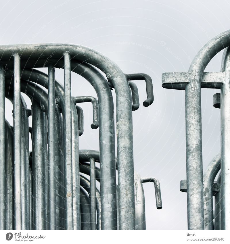 City Calm Gray Metal Glittering Arrangement Safety Change Might Protection Fence Society Barrier Silver Boredom Grating