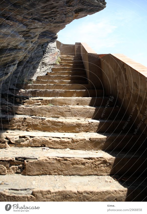 Wall (building) Lanes & trails Coast Wall (barrier) Stone Rock Design Bright Stairs Power Creativity Adventure Authentic Perspective Beautiful weather Tall