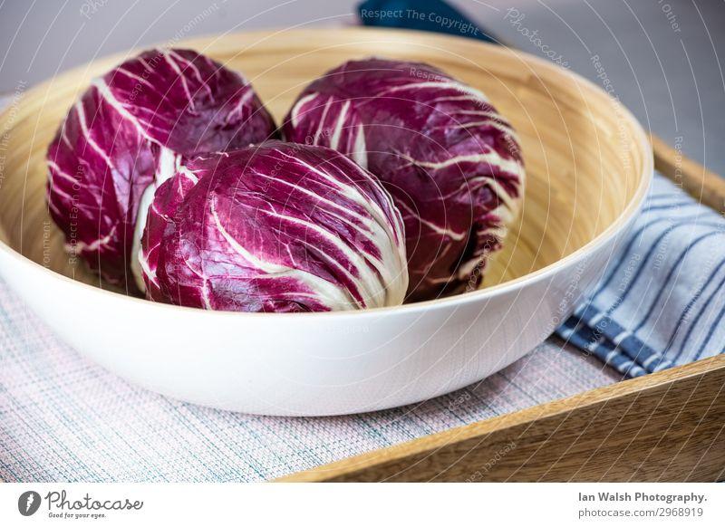 Radicchio Vegetable Lettuce Salad Nutrition Eating Breakfast Lunch Dinner Organic produce Vegetarian diet Diet Slow food Italian Food Bowl Healthy Eating