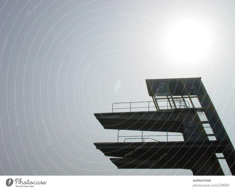 diving platform Jump High diving Springboard Sports Tower Sun Sky