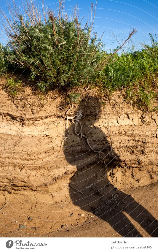 Strange shadow Vacation & Travel Island Mecklenburg-Western Pomerania good for the monk Nature Baltic Sea Travel photography Rügen Sand Beach Tourism Coast