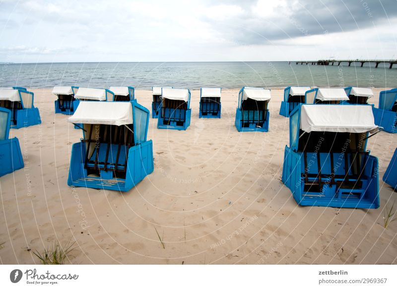 beach chairs Vacation & Travel Island Coast Mecklenburg-Western Pomerania Ocean good for the monk Nature Baltic Sea Baltic island Travel photography Rügen Sand