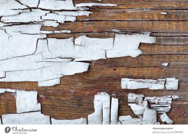 Old cracked paint on old boards Green White Wall (building) Wood Wall (barrier) Dirty Material Crack & Rip & Tear Surface Weathered Rough Damage Consistency