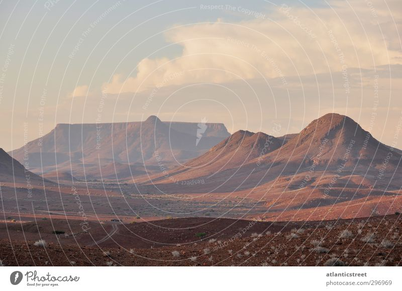 Damaraland Evening Mood Adventure Freedom Nature Landscape Earth Sunrise Sunset Mountain Desert Namibia Damaraland Stone desert Africa Deserted Looking Dream