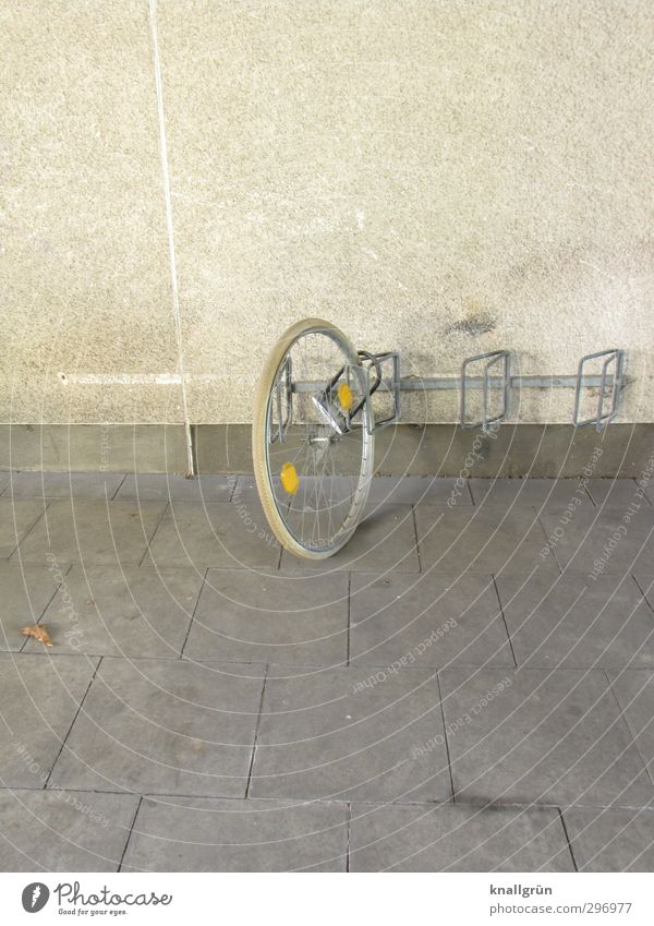 ride a unicycle Leisure and hobbies Cycling Ride a unicycle Bicycle Wall (barrier) Wall (building) Facade Bicycle rack Paving tiles Reflector Bicycle tyre
