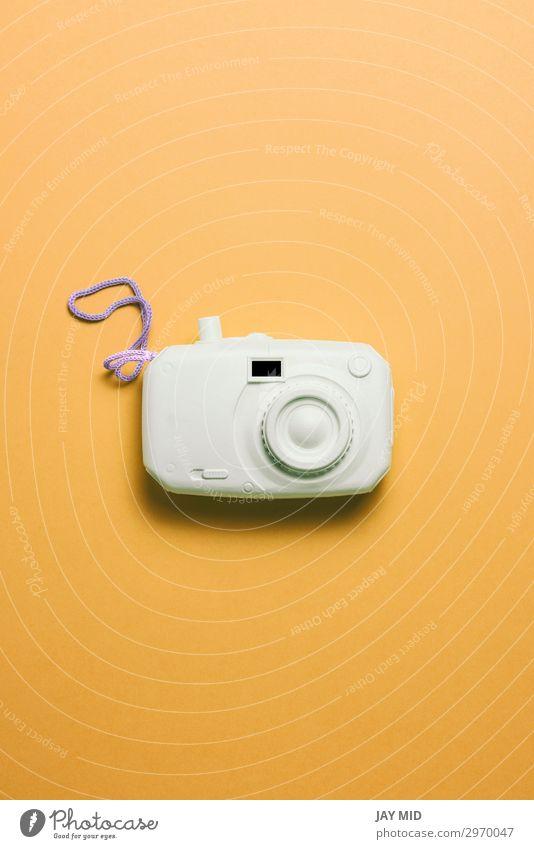 retro camera surrealism abstract concept. Style Design Joy Vacation & Travel Summer Camera Technology Art Plastic Bright Funny Retro Black White Colour Idea