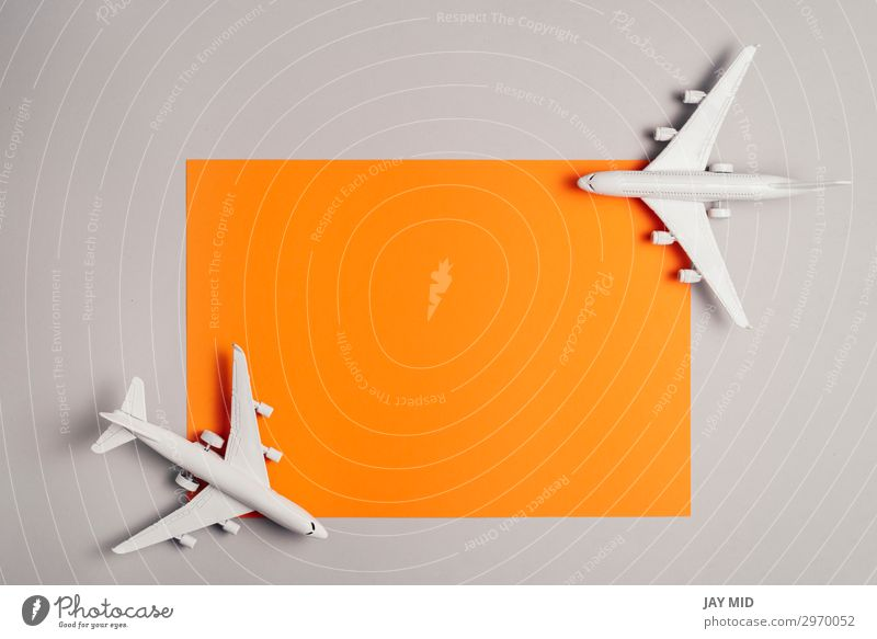 two jet planes travel concept, minimal art Design Life Vacation & Travel Tourism Trip Summer Business Art Sky Transport Passenger traffic Vehicle Aviation