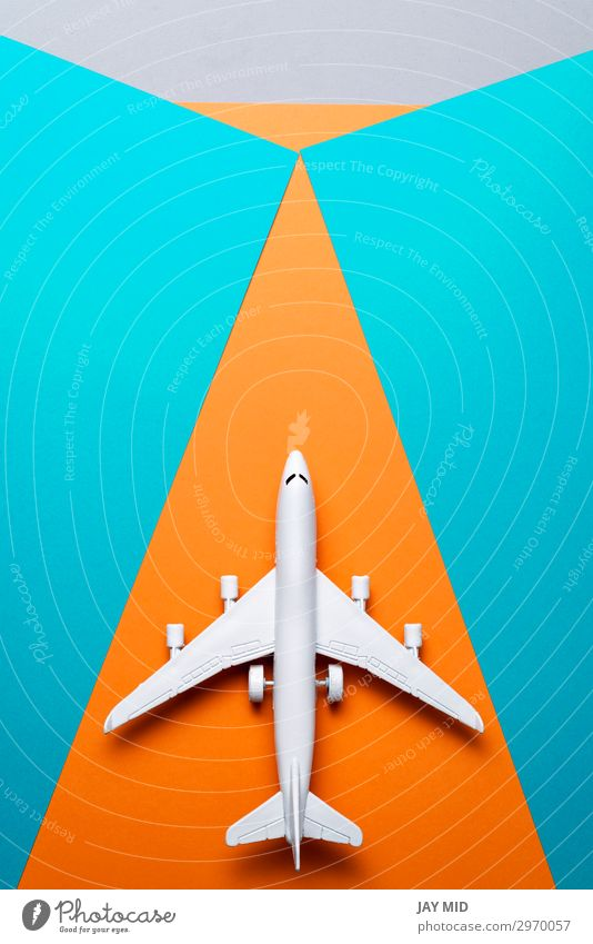 jet airplane travel concept, minimal art, colorful background Design Life Vacation & Travel Tourism Trip Adventure Freedom Summer Summer vacation Business Art