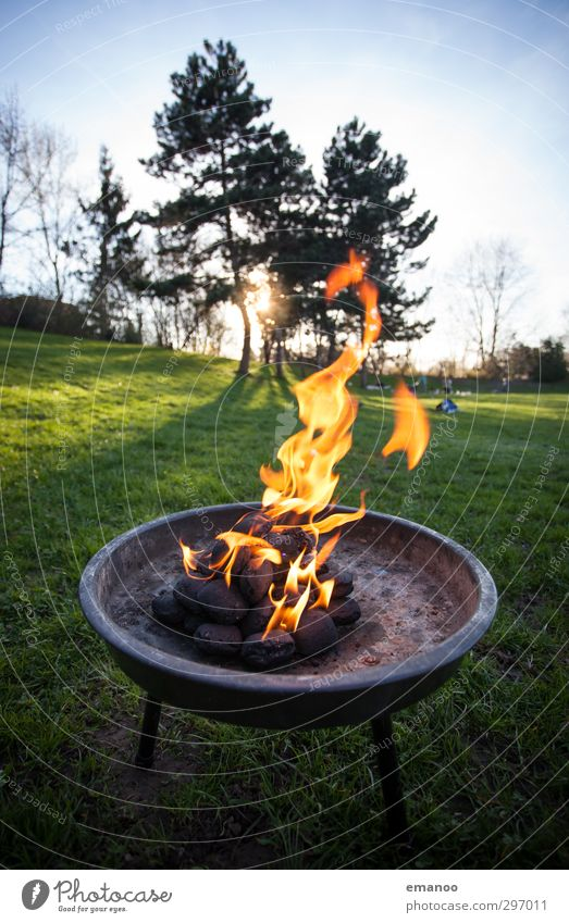 fiery Nutrition Picnic Leisure and hobbies Vacation & Travel Summer Feasts & Celebrations Nature Landscape Sky Sun Sunrise Sunset Tree Grass Park Hot Warmth