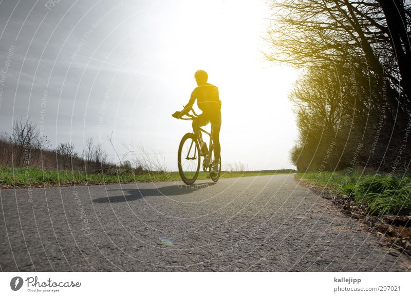 Human being Nature Vacation & Travel Landscape Adults Environment Sports Movement Lanes & trails Body Field Masculine Bicycle Transport Fitness Driving