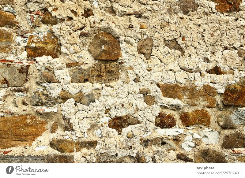 old weathered stone wall Design House (Residential Structure) Rock Architecture Facade Stone Concrete Rust Old Dirty Retro Brown Gray Weathered block