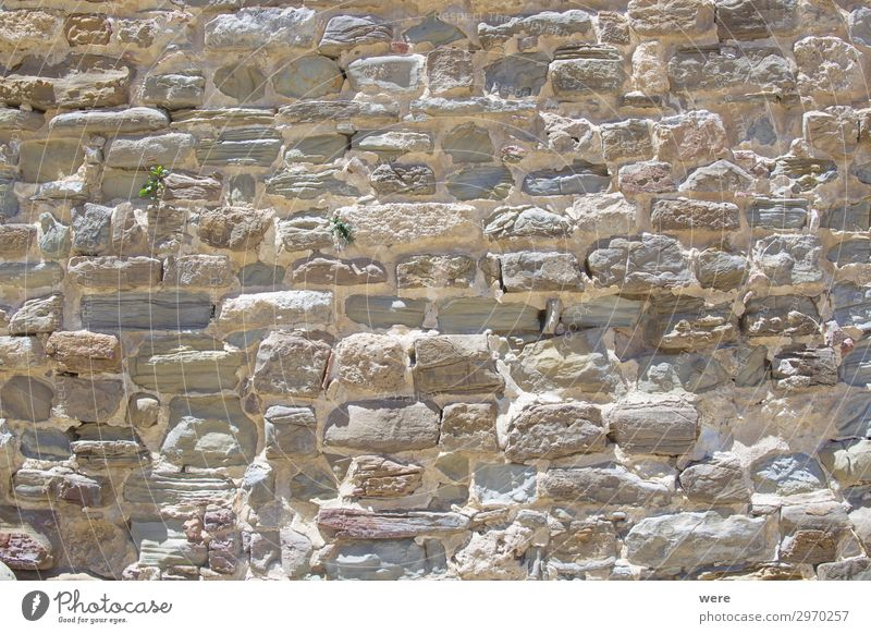 Historic stone wall on the Alcazar in Tarifa Wall (barrier) Wall (building) Old Firm Alcàzar Andalusia Background picture copy space historic historical nobody