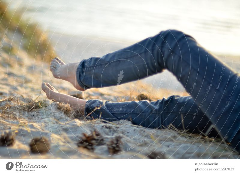 I'll be off. Iceland Vacation & Travel Joy Island Beach Sand Sun Woman Feminine Feet Legs Ocean Warmth Sunbeam Beautiful Relaxation Lie Calm