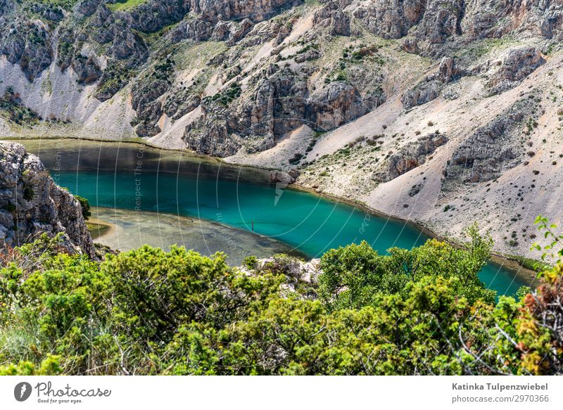 Zrmanja-Canyon in Kroatien (1) Environment Nature Landscape Elements Water Spring Plant Tree Rock Mountain River Esthetic Exceptional Silver Turquoise