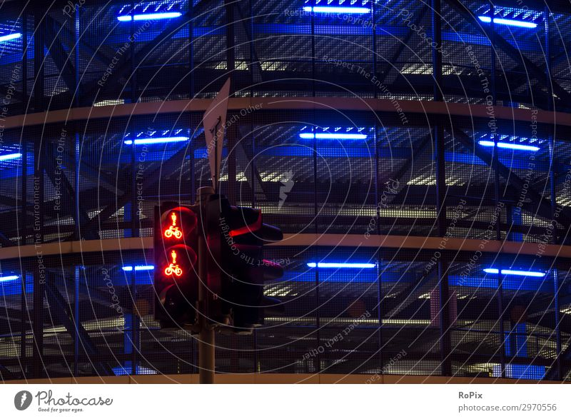 urban lights Town Architecture Lifestyle Environment Style Building Art Facade Moody Design Transport Bicycle Cycling Industry Climate Downtown