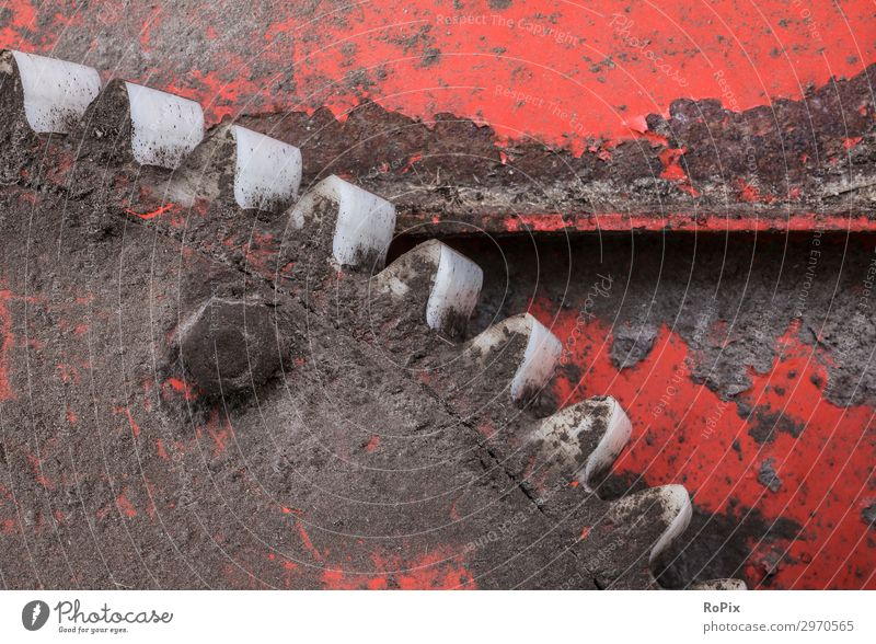 Plastic gears of a agricultural machine. Old Red Environment Style Work and employment Transport Technology Industry Construction site Logistics Elements