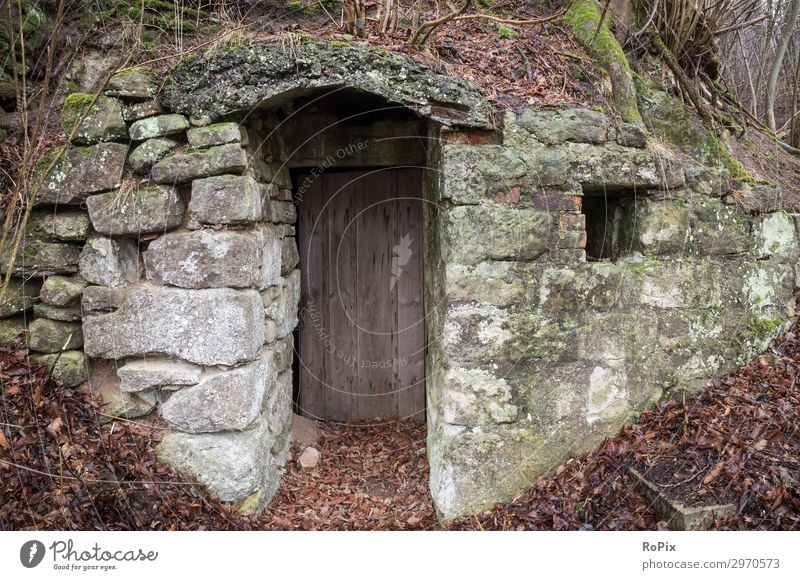 Cave cellar entrance door. Design Work and employment Workplace Agriculture Forestry Trade Craft (trade) Architecture Environment Nature Landscape Earth Climate