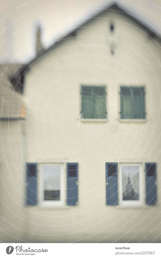 House (Residential Structure) Window Architecture Building Bright Germany Facade Gloomy Roof Boredom Detached house