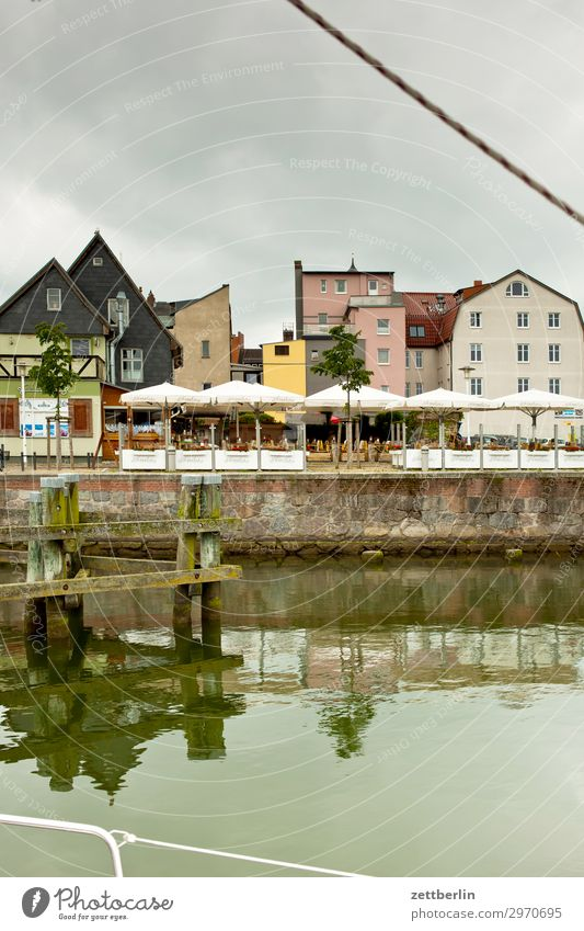 Stralsund harbour basin Old Ancient Building Harbour Hanseatic League Hanseatic City House (Residential Structure) Historic Small Town Coast