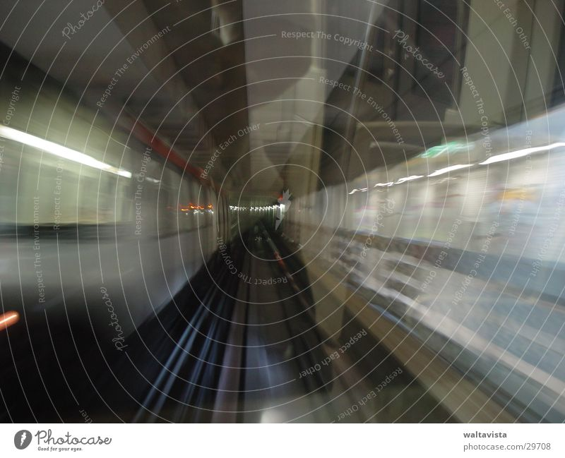Window Transport Railroad Railroad tracks Underground Neon light