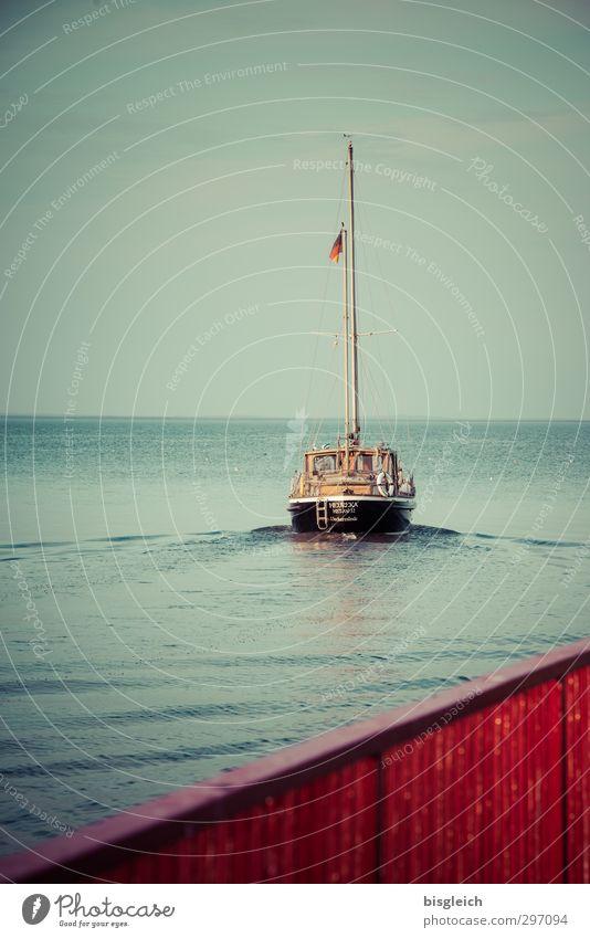 Green Water Summer Red Ocean Calm Relaxation Freedom Coast Adventure Driving Longing Baltic Sea Sailing Navigation Bridge railing