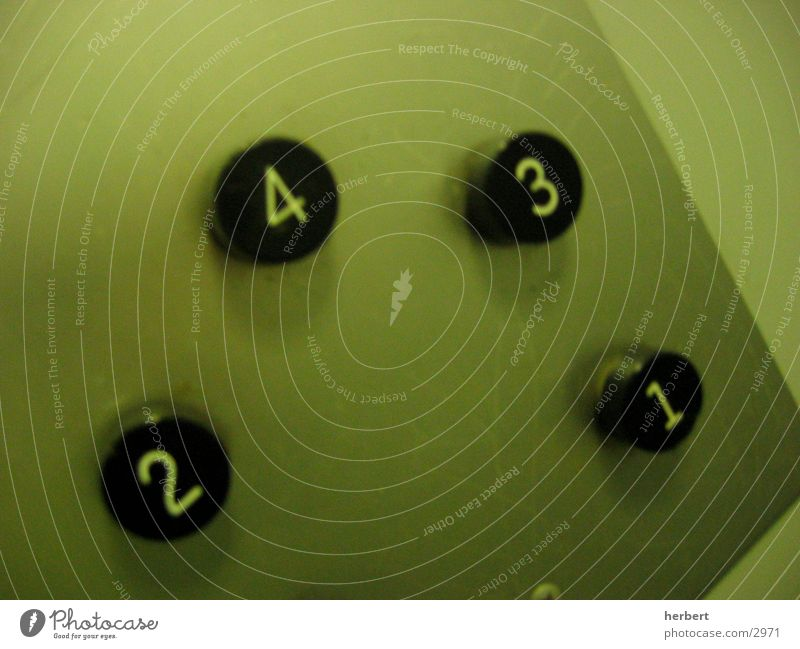 Green Digits and numbers Elevator Buttons Photographic technology