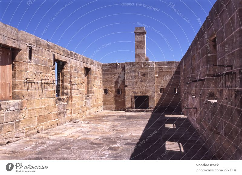 Heritage Stone Walls Deserted Manmade structures Building Architecture Wall (barrier) Wall (building) Fireside Chimney Boredom Sydney Australia Navy Shipyard