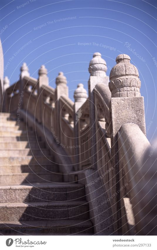 Steps to infinity Sky Manmade structures Architecture Wall (barrier) Wall (building) Stairs Terrace Stone Blue White Optimism Hope Belief Perspective Carved