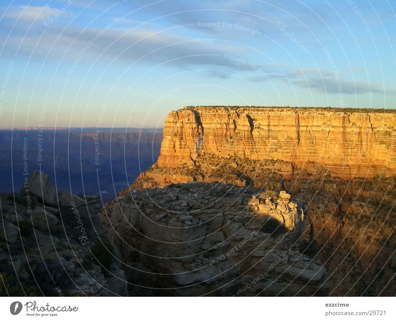 Sun Mountain Large Rock USA Deep Canyon Reef Arizona Grand Canyon