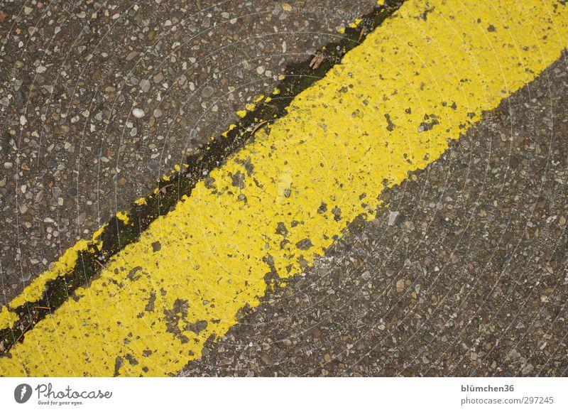You're a dodger. You're a dodger. Street Simple Yellow Gray Signs and labeling Line Across Asphalt Parking lot Arrangement Pavement Colour photo Exterior shot
