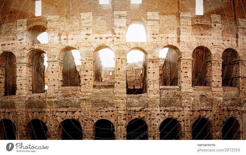 Roman Colosseum during sunset Lifestyle Vacation & Travel Tourism Sightseeing Summer Sun Stadium Theatre Culture Ruin Building Architecture Monument Stone Old
